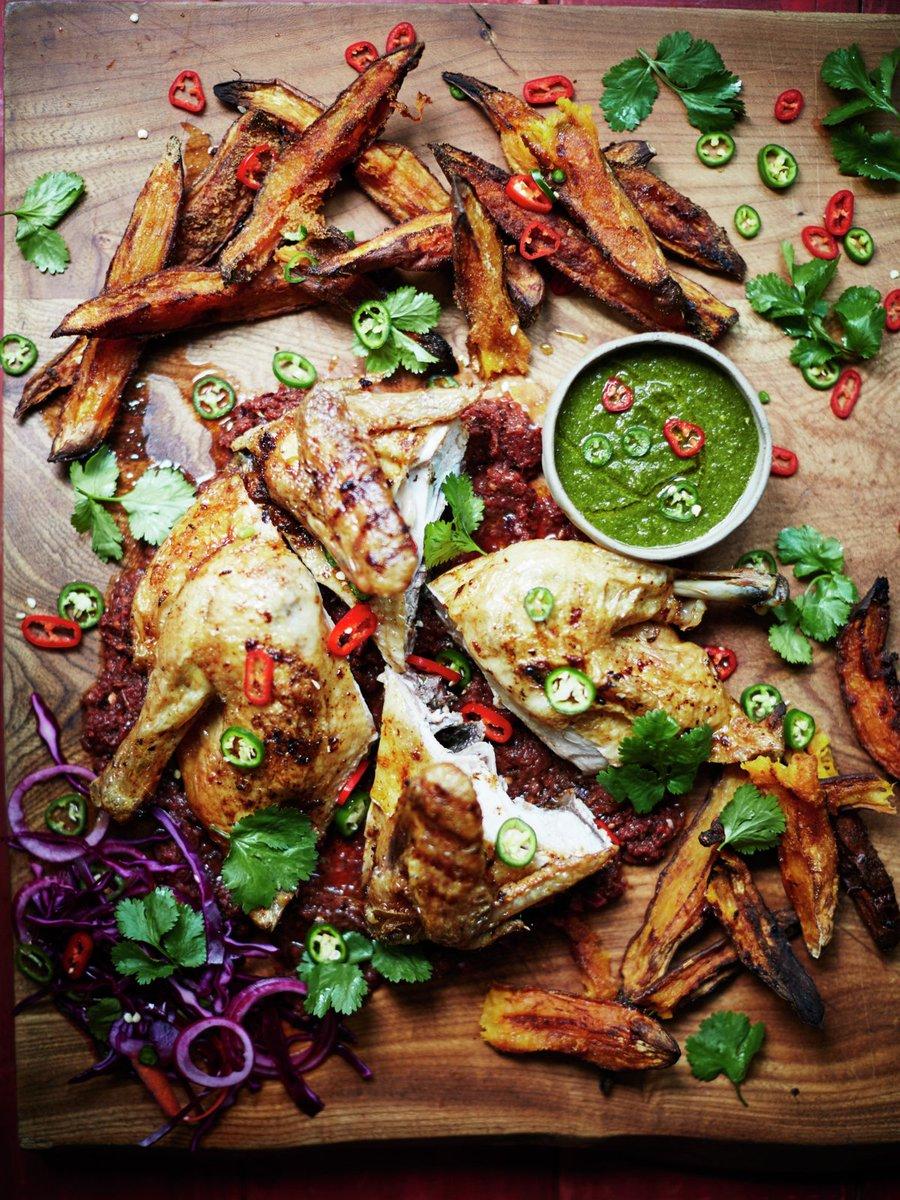 Crisp, spicy roast chicken, served with piri piri sauce – delicious! https://t.co/fXZEFKJV5k #RecipeOfTheDay https://t.co/jlL7nmKH5X
