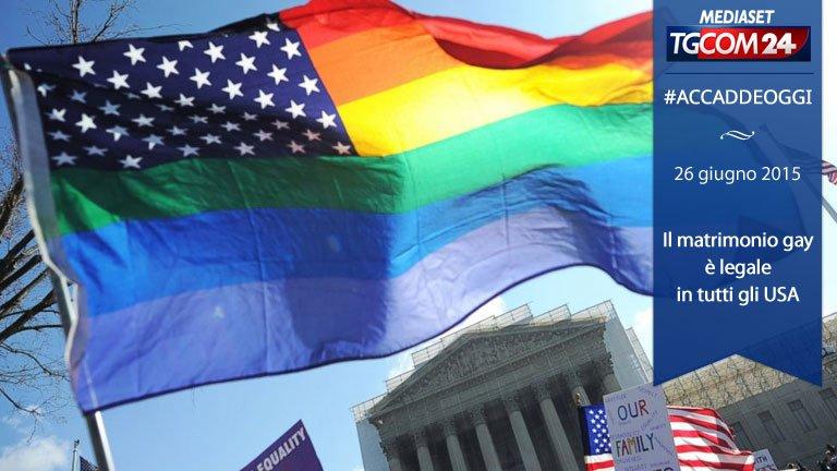 Matrimonio Gay In Usa : Accaddeoggi nel il matrimonio gay diventa legale in