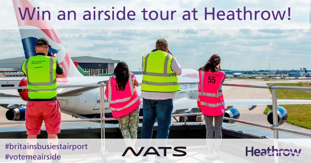 It's back! Your chance to win a tour at BritainsBusiestAirport with our VoteMeAirside comp