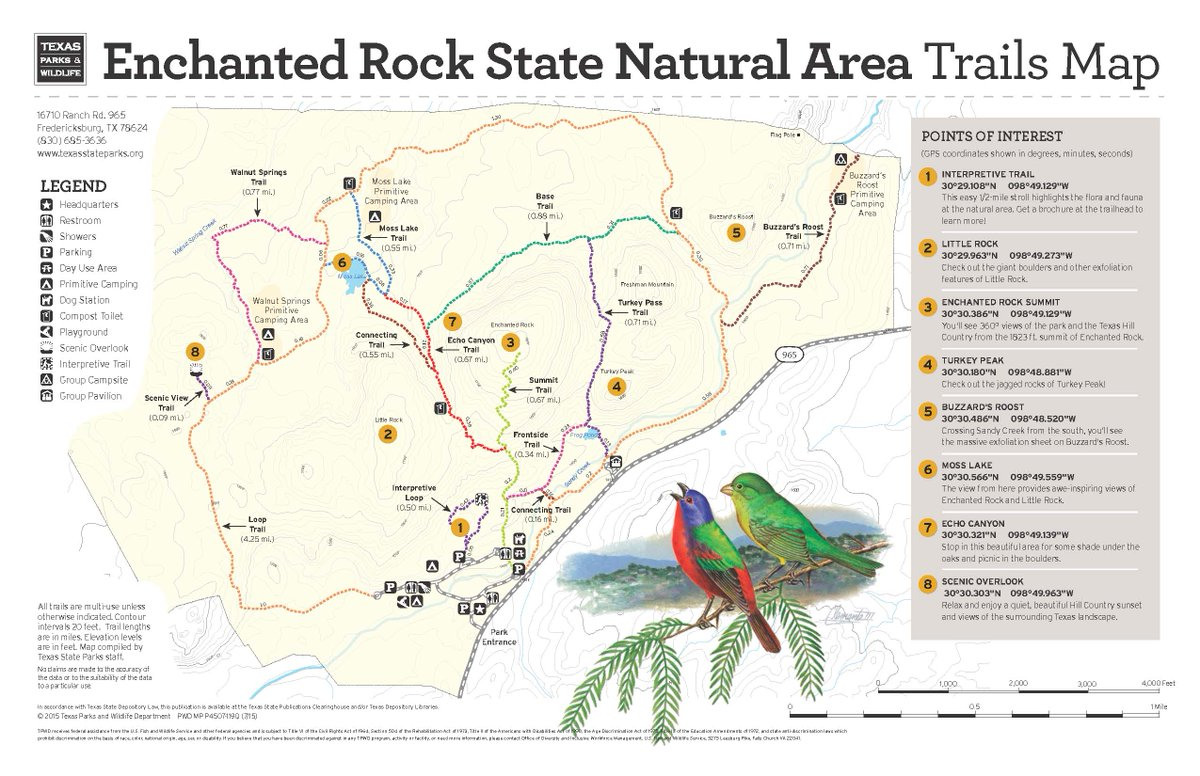 Enchanted Rock Map Camping Map
