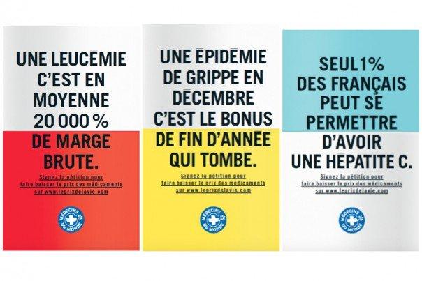 L'affichage de cette campagne sur le prix trop élevé des médicaments a été censurée.. Alors faites la circuler !  https://t.co/d3fxsBMzx7