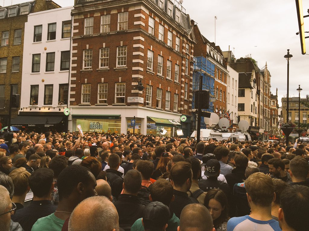 #Orlando ,your friends over in London brought Soho to standstill in your honour. #LoveIsLove XXXX https://t.co/kO7XXKQ6p0