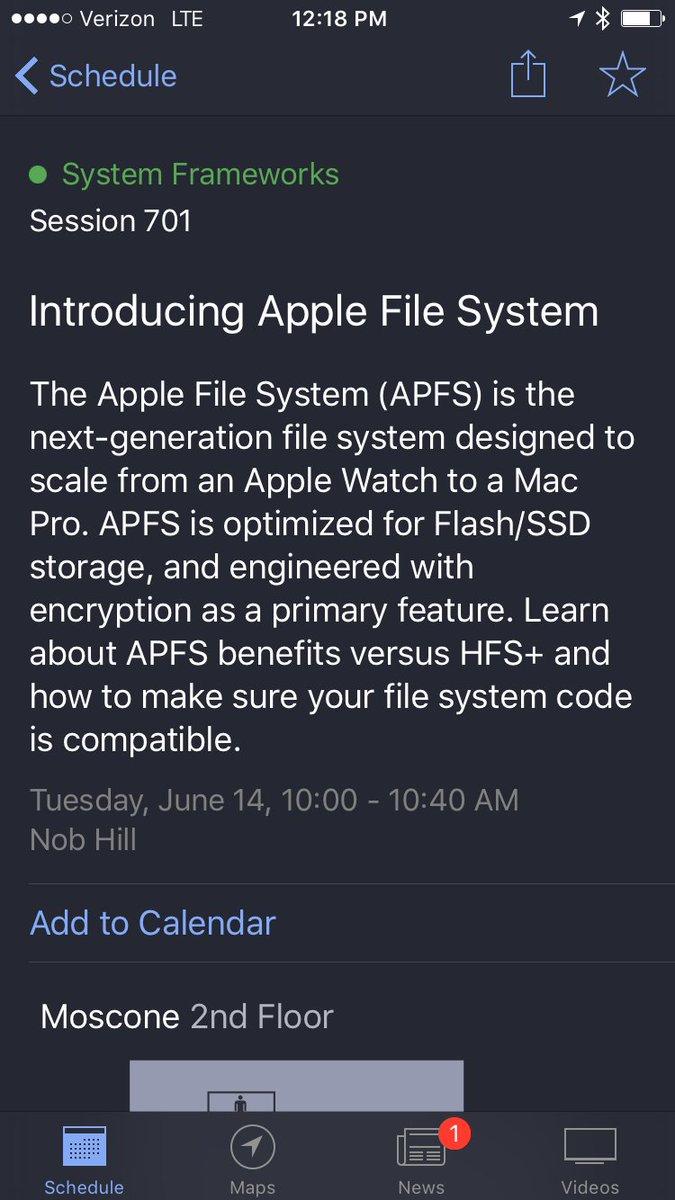 Apple File System: https://t.co/4nrm4IllSK