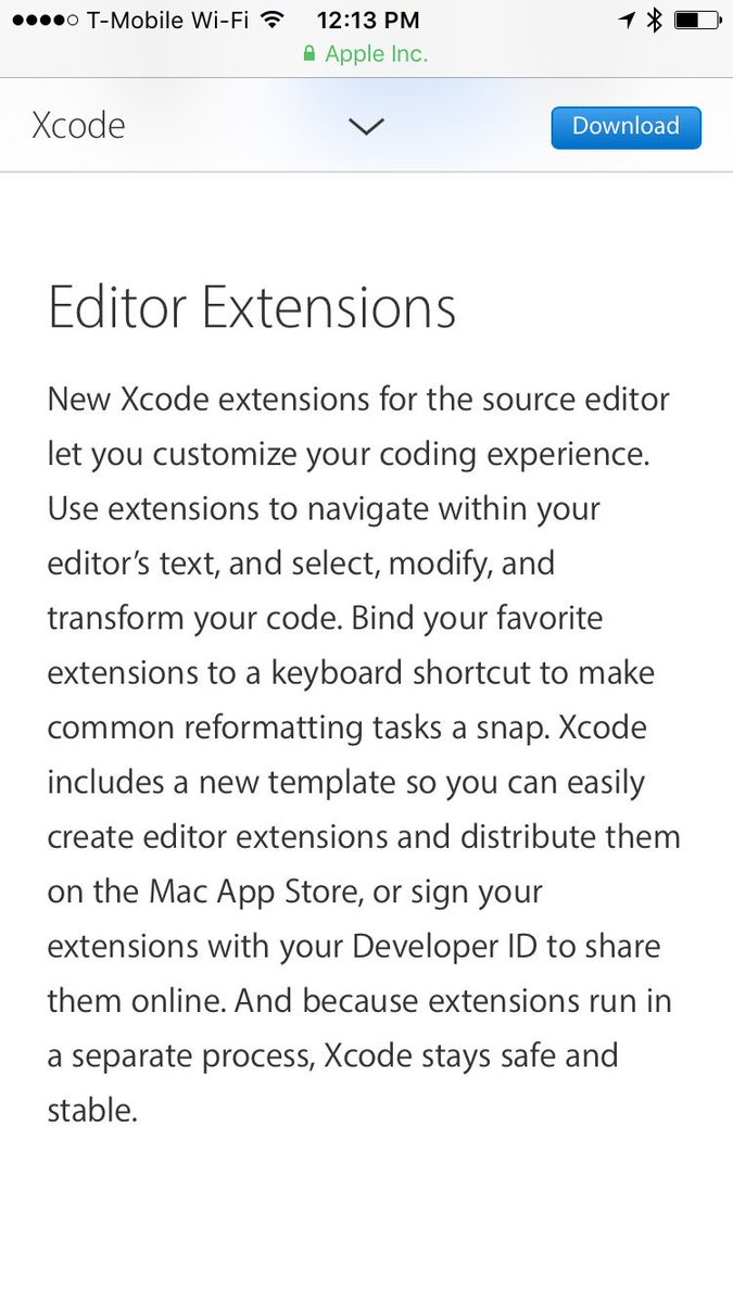 Xcode editor extensions was my intern project in '15. Kudos to everyone in the Xcode team!