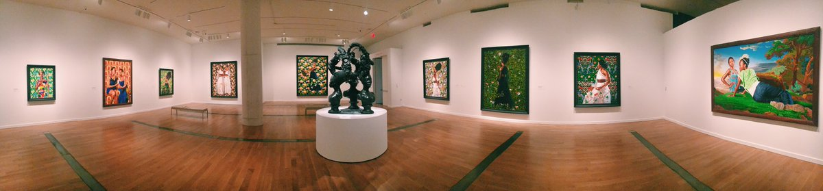 A panoramic shot of the #WileyRVA exhibition inspired by Thomas R. Schiff's exhibition #VA360 closing Sunday. #VMFA https://t.co/YnbQhVjATi