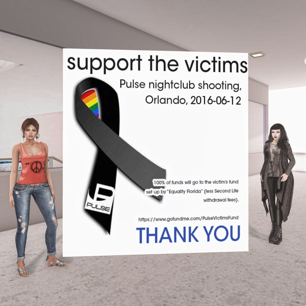#SecondLife Residents Collect Donations for Victims of Orlando Shooting: #morelove #lesshate https://t.co/pFDl9rrop3 https://t.co/PnoULT5ulF