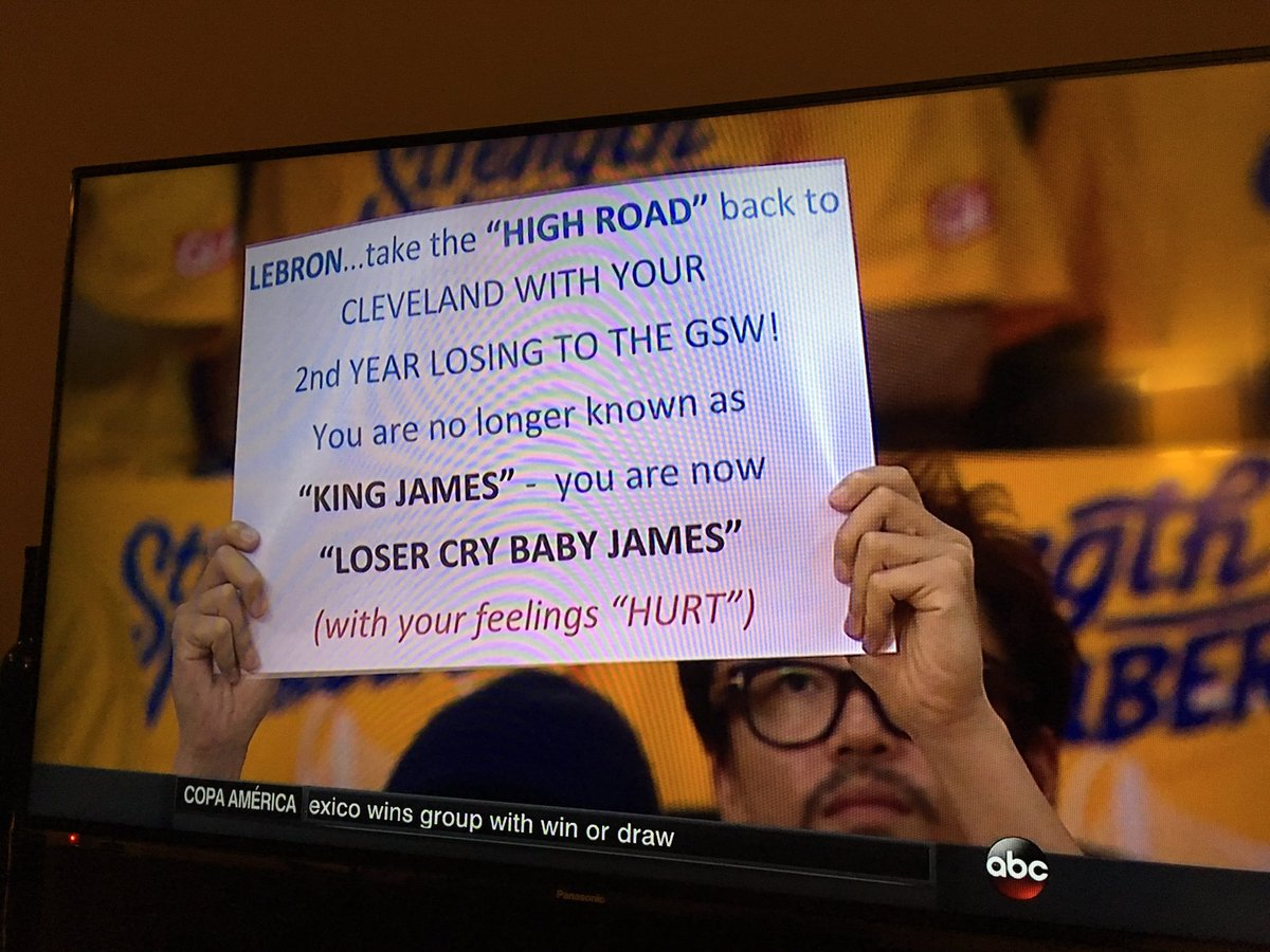 Congrats on the worst sign of all-time. #NBAFinals https://t.co/86CO2gYRlu