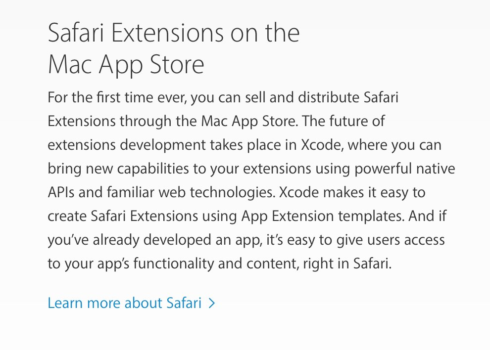 Neat, developers can sell Safari Extensions in the Mac App Store:  https://t.co/Bu8nHzmVdU https://t.co/UmAFA9AETO