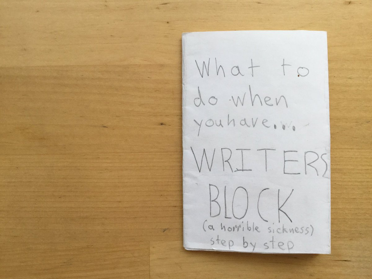 Writers, feeling blocked? One of my now former fifth graders has you covered with this mini-book. https://t.co/j2nIBPmMGy
