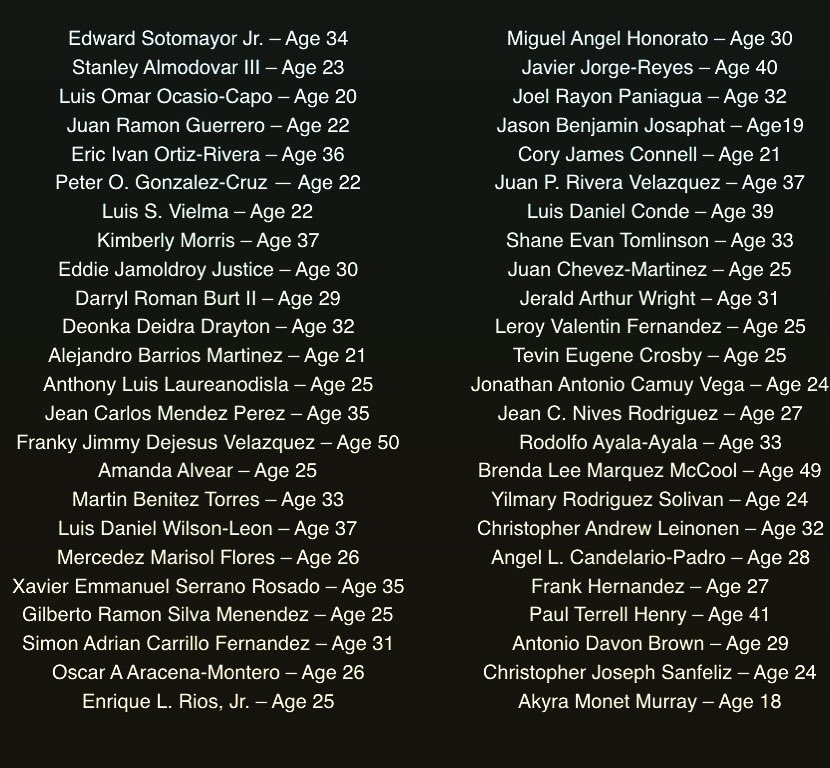 Don't ever forget. Each victim has a story, a family, a life, a loved one, a future. #prayfororlando #orlandovictims https://t.co/DC5rUlXjoB