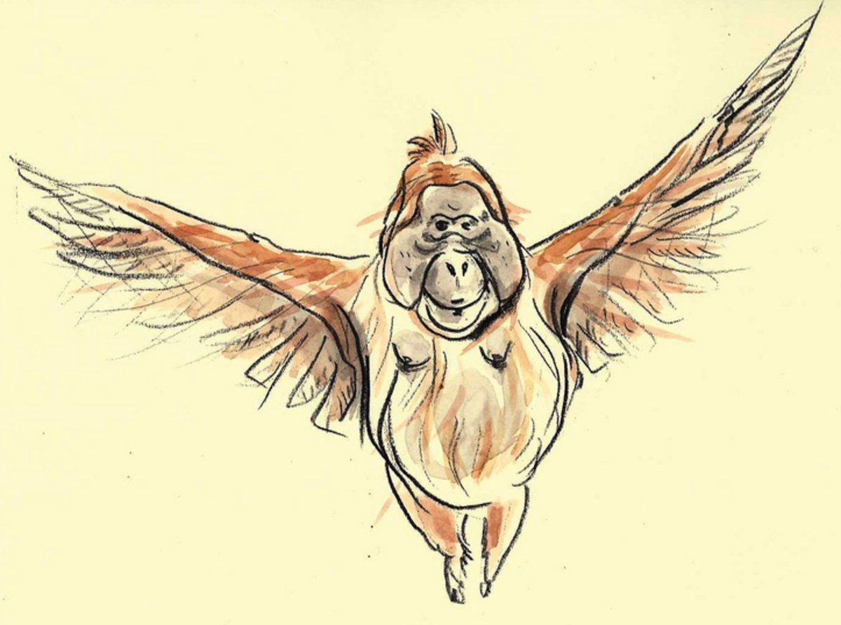 I really like how Katerine_Cheval drew Farah the Feathered Orangutan... https://t.co/H0xQbQrciv https://t.co/ltUL9NazBR