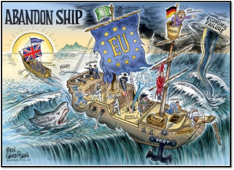 Great cartoon. I agree that Britain would be sailing away from a sinking ship. https://t.co/OIxqH2xT8R