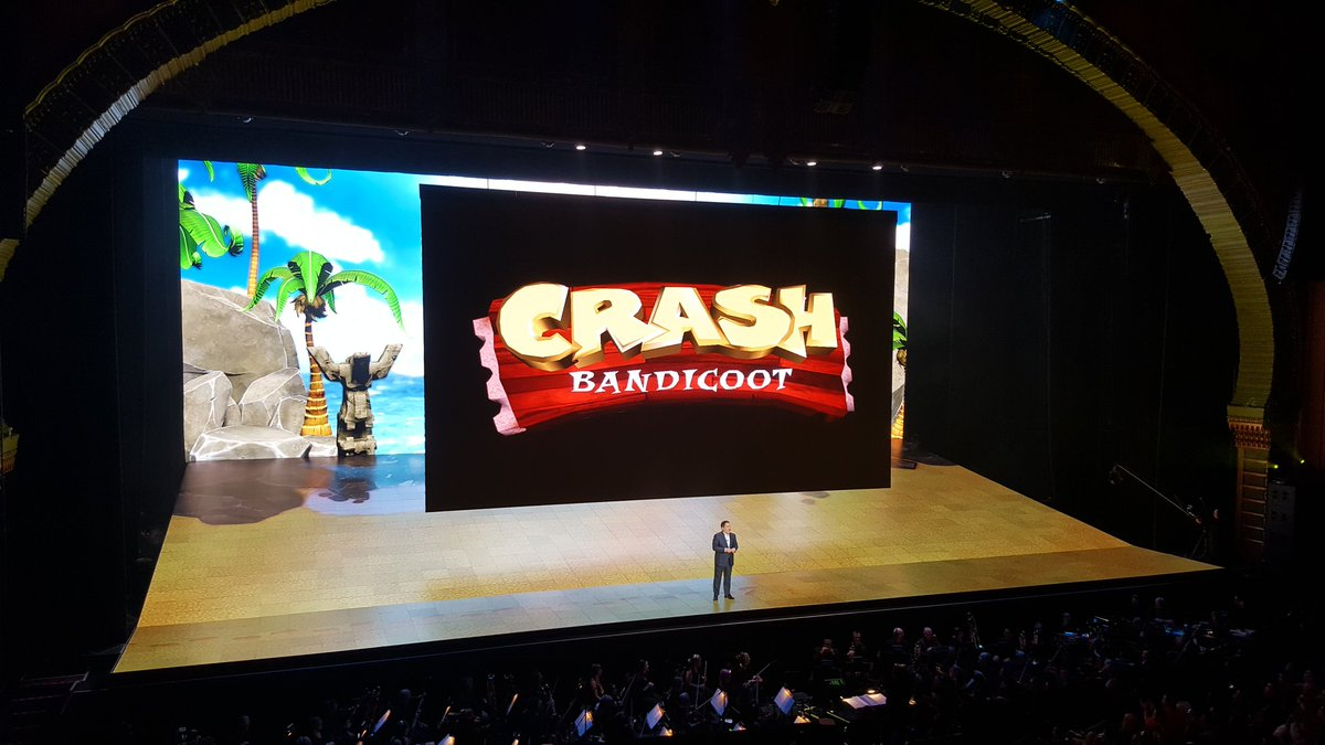 Crash 1, 2, and 3 all Remastered for PS4 #PS4E3 Also, Crash is in Skylanders Imaginators https://t.co/WeVy3HACrA