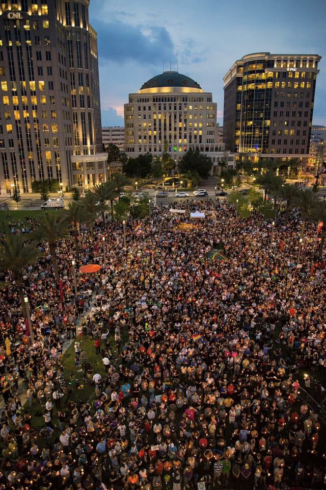 Spectacular turnout tonight for vigil. #OrlandoUnited https://t.co/uh8CpIRkvo