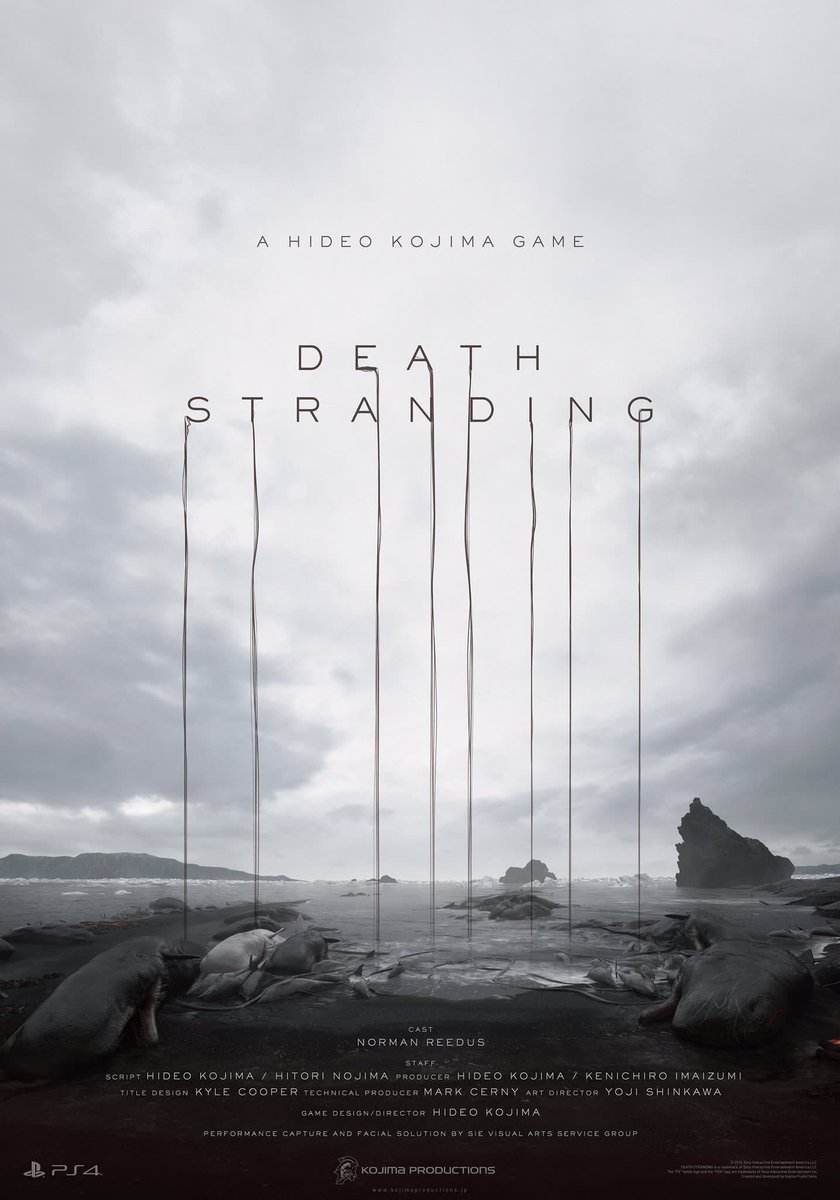 """Just announced my new title at Sony Conference. """"DEATH STRANDING"""". https://t.co/MJcGFI8KSt"""