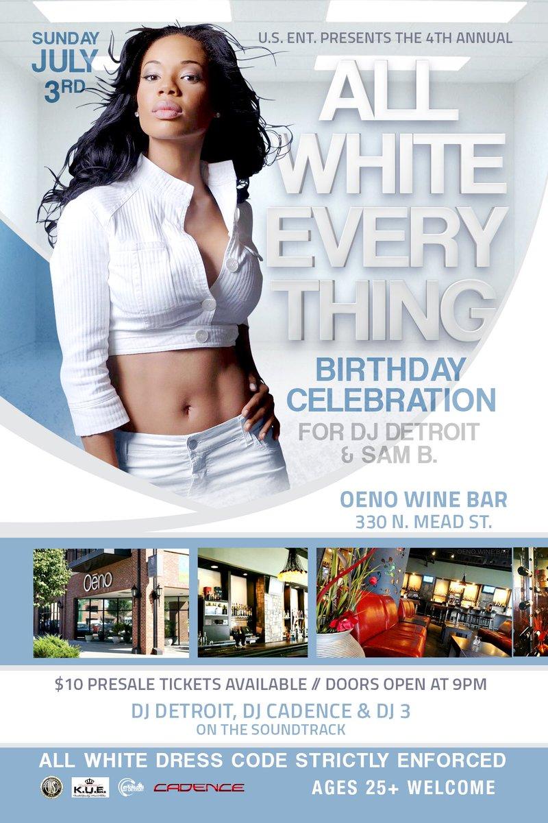 July 3rd all white everything at Oeno wine bar @CoreDJDetroit @kingzunitedent https://t.co/RGls7Lq0bx
