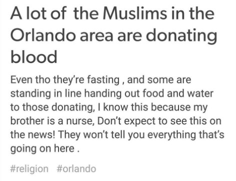 muslims are donating blood during ramadan https://t.co/qRcRV0oxJY