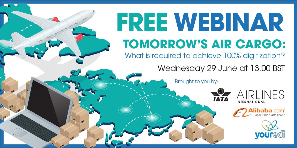 100% digitization: A reality for the future of aircargo? Find out at this free webinar: