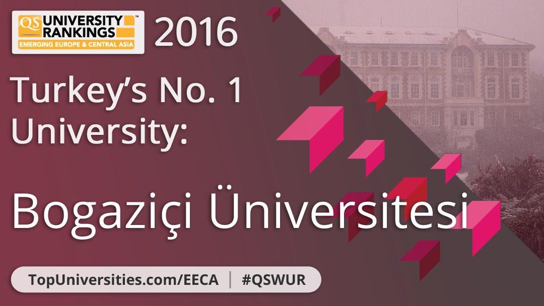 .@UniBogazici is Turkey's number one university!