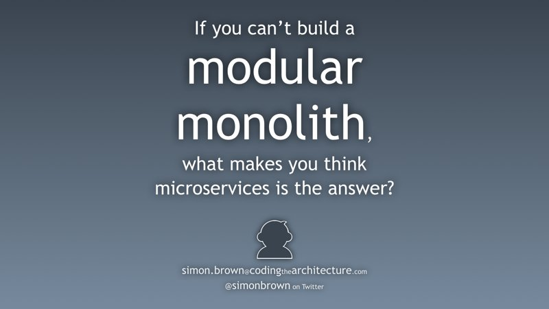 "Here are the slides from my ""Modular monoliths"" talk at @DevoxxUK last week -> https://t.co/vQx6yMJGPB #java https://t.co/VvWpYb9D6A"