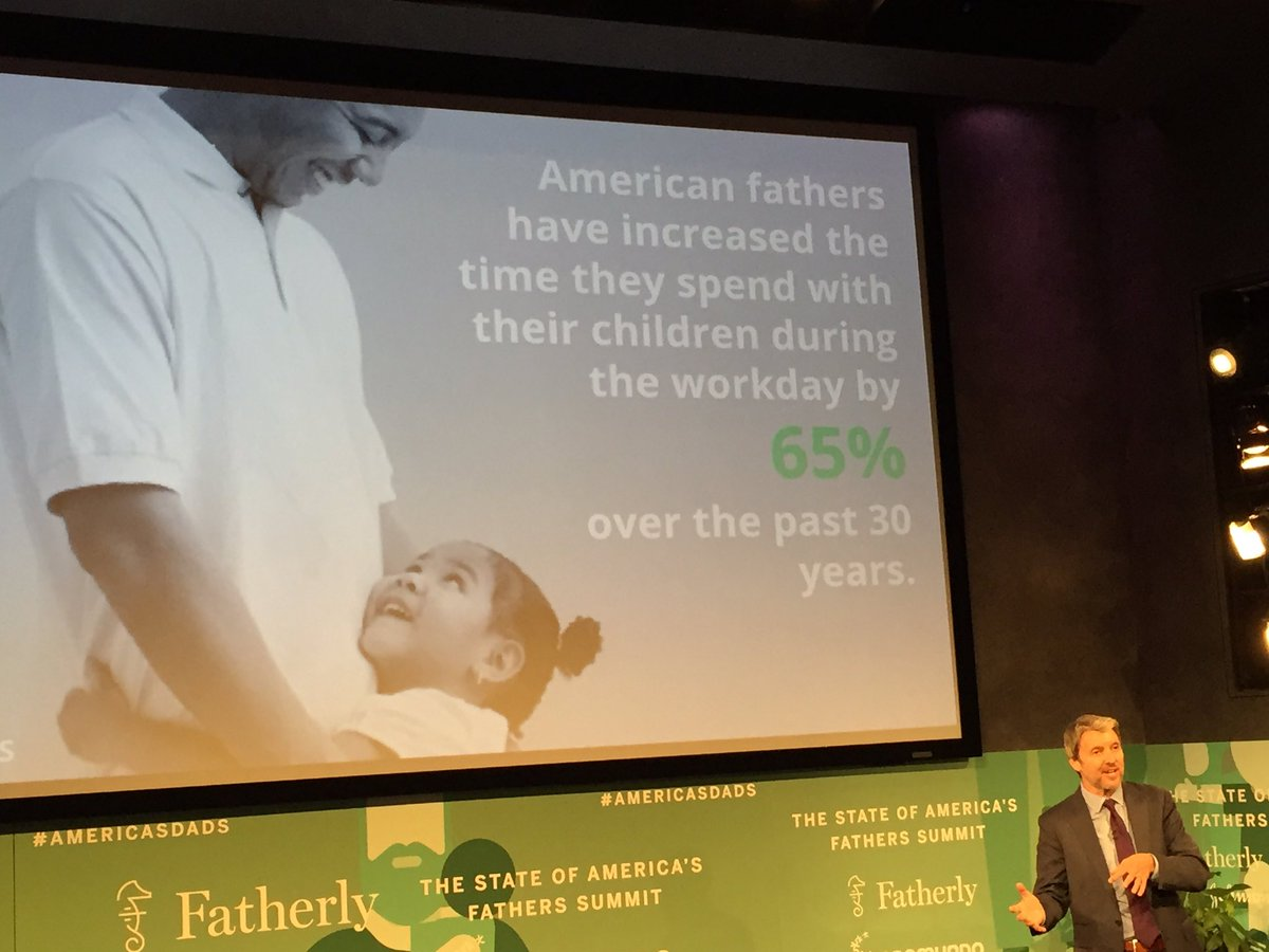 """American fathers have increased time they spend with kids by 65% "" -Gary Barker of @Promundo_US #AmericasDads https://t.co/nuBGswOWPf"
