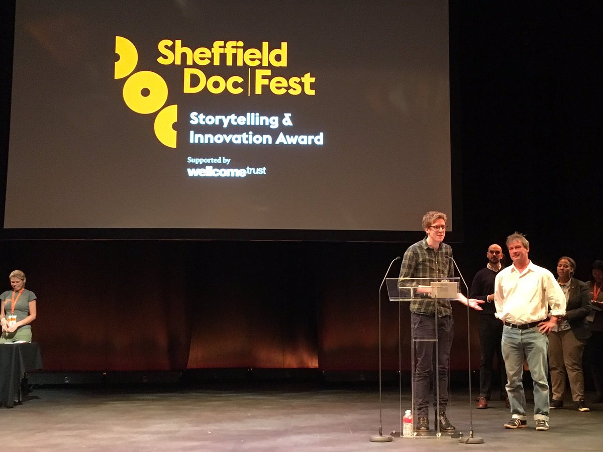 The Storytelling & Innovation Award supported by @wellcometrust goes to Notes @OnBlindness. #sheffdocfest https://t.co/iDEOI3Hh94