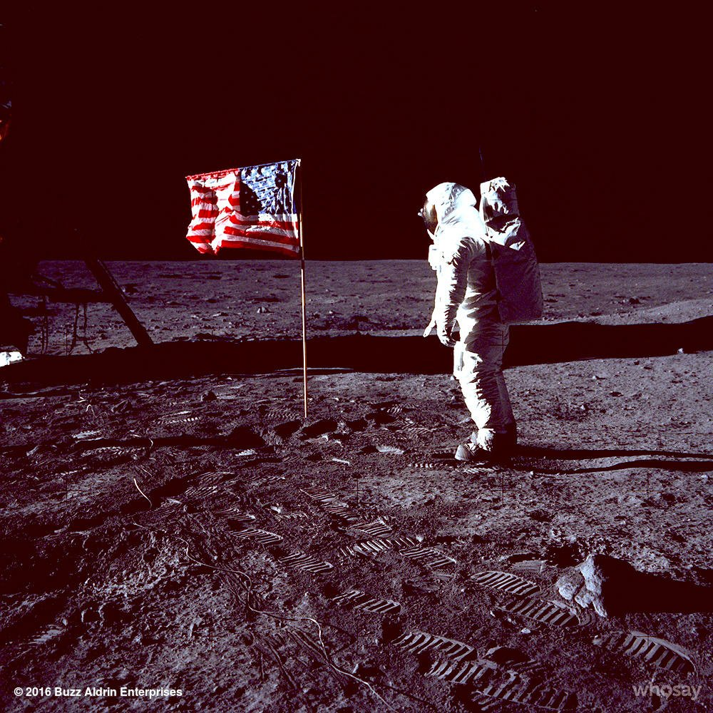 RT @TheRealBuzz: Happy #FlagDay! My salute to the American flag on the moon was my proudest moment. #Apollo11 https://t.co/wIim2nsh6B