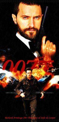 #RichardArmitage  On new James Bond list https://t.co/bOTQHmcgNx https://t.co/UYMTLLVHaJ RA/007 fanart by @maraiad https://t.co/RS5sRBRJgl