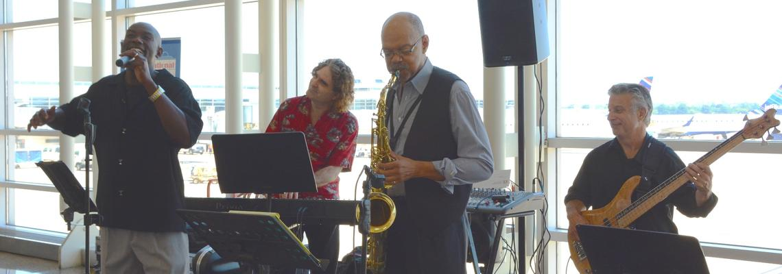 Heart Song Trio & Prince Havely, 4-5:30pm, across from Cosi in Nat'l Hall.
