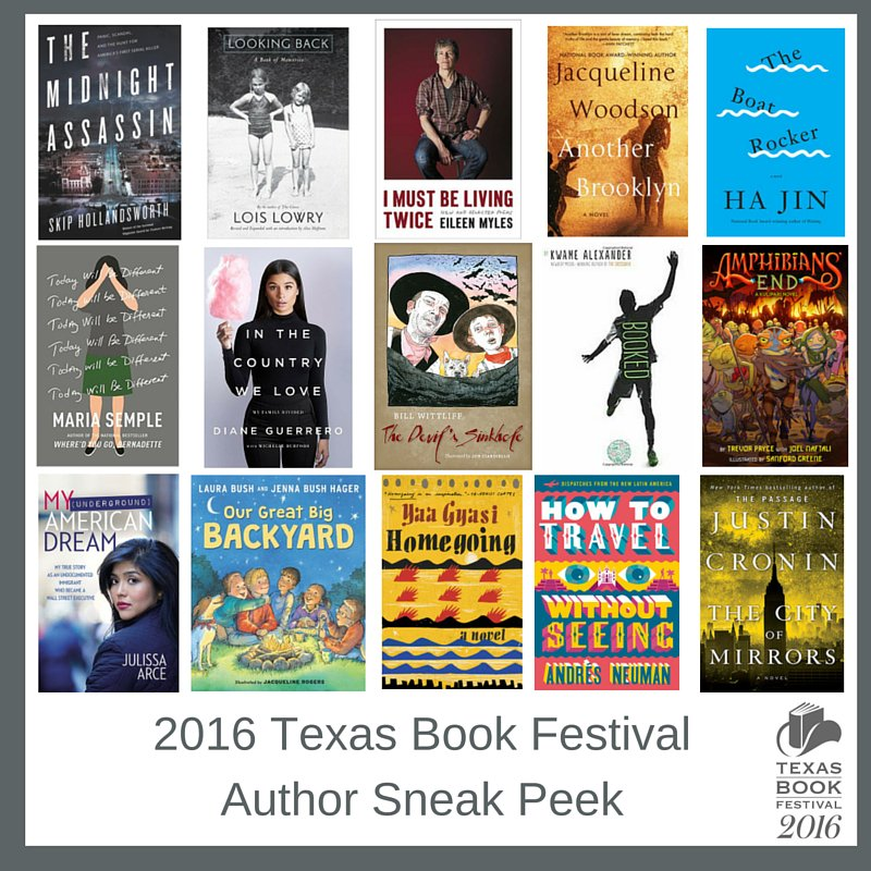 JUST ANNOUNCED! 16 authors joining us for the 2016 #txbookfest Nov 5 & 6: https://t.co/ld5eKkXhMO https://t.co/0vRgmrRhYw