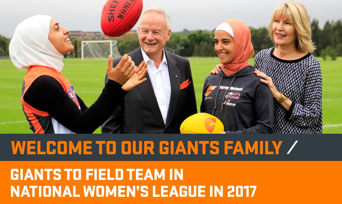 Welcome to the GIANTS family!  The GIANTS will field a team in the AFL's National Women's League. #Journeyto2017 https://t.co/kQiJkPAvmq