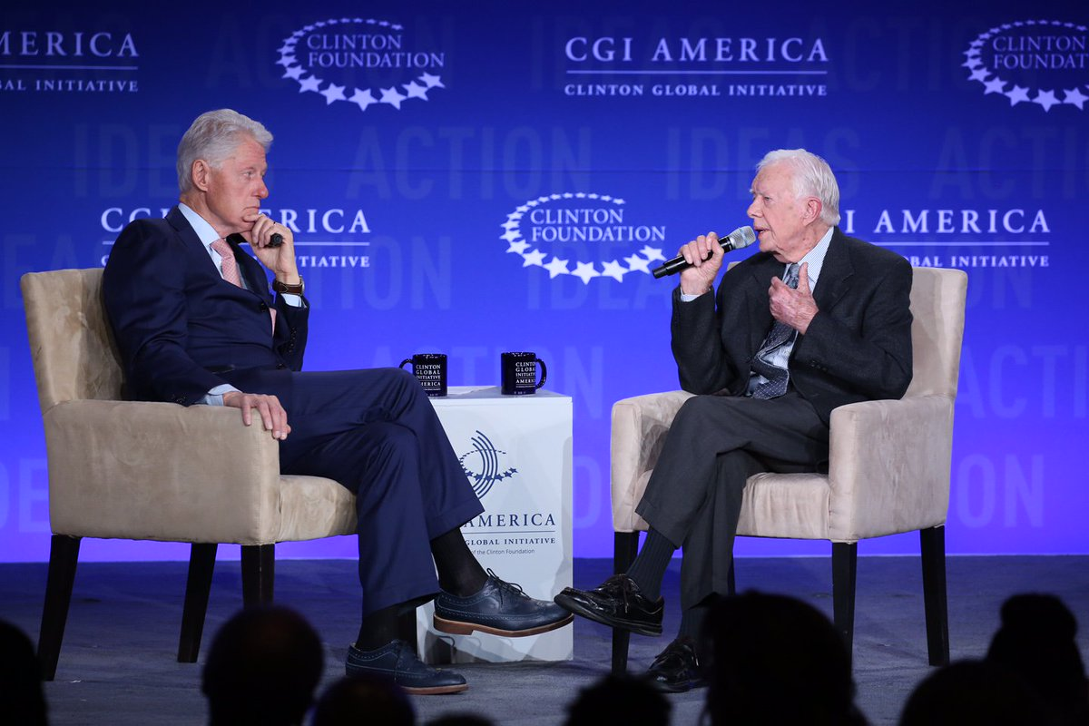 """If you let people be involved in their own solution, that's the best approach to take."" Pres. Jimmy Carter #CGI2016 https://t.co/dNaZrlWYbV"