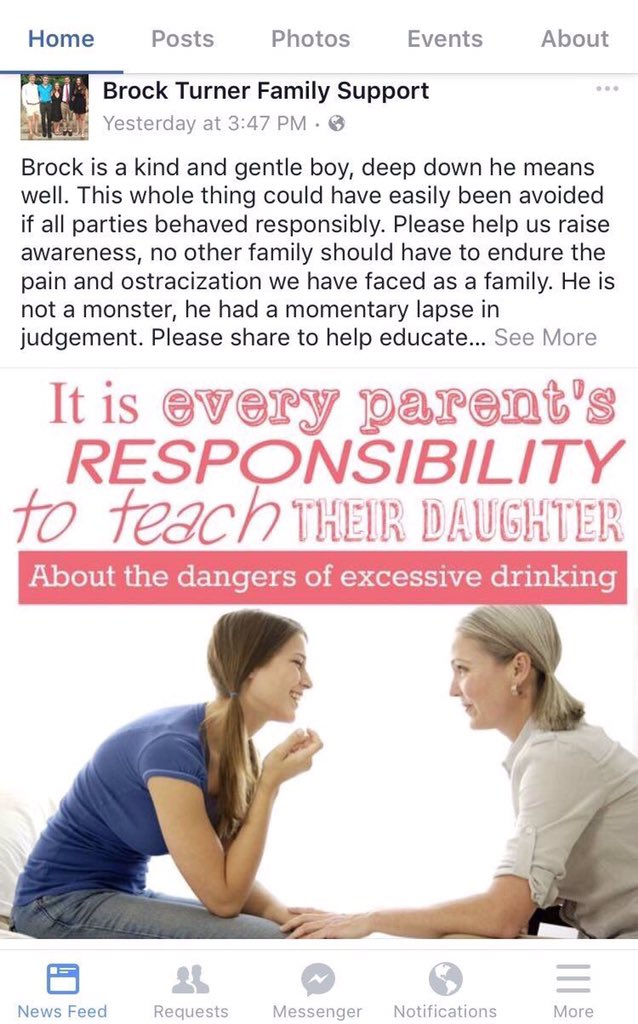 This has to be a joke. How about teach your rapist son about dangers of drinking or maybe how to RESPECT WOMEN CMON https://t.co/PPXy3tapU3