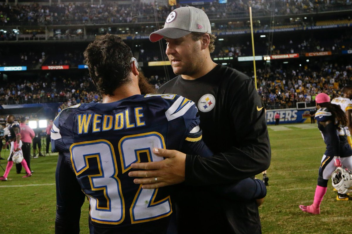 Ben roethlisberger wanted steelers to sign eric weddle now the