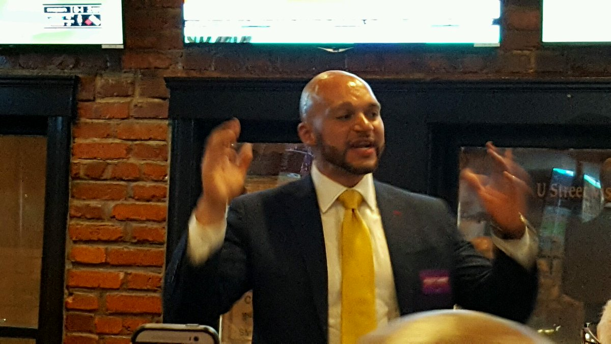 "Councilmember-elect @RobertWhite_DC giving victory speech. ""The hard work starts now."" #DCision16 https://t.co/1LHOvBoEmi"