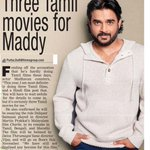RT @MoviesUpdatez: Three Tamil movies for Maddy @ActorMadhavan --> https://t.co/Ks08nLDpJw