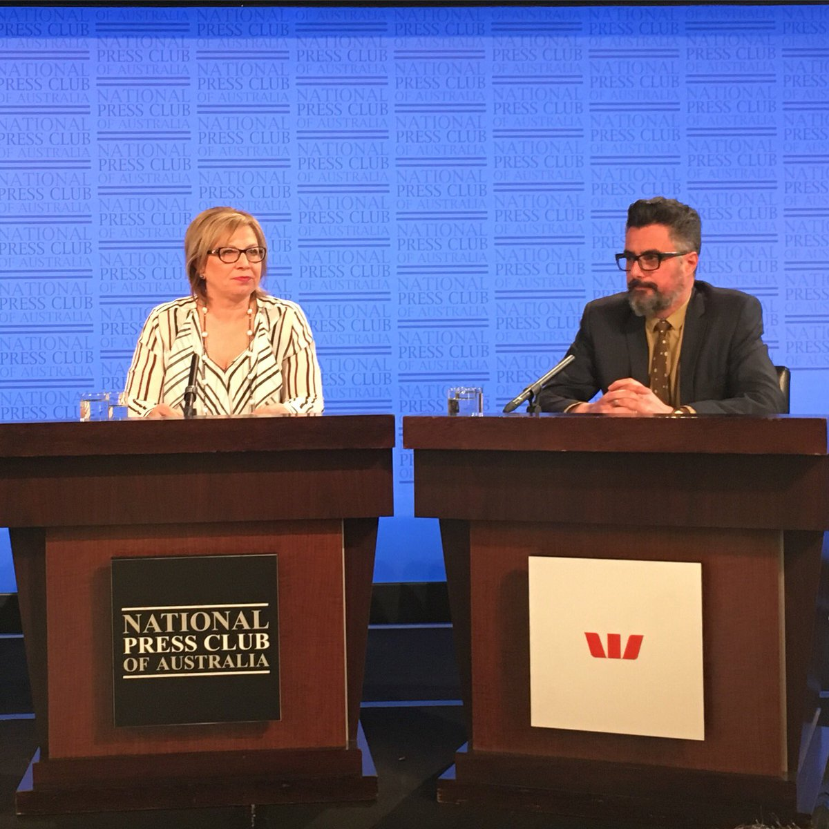 Rosie Batty and Danny Blay Addressing the #NPC for the Family Violence Election Forum. #AusVotes https://t.co/lSmQnn6nOM