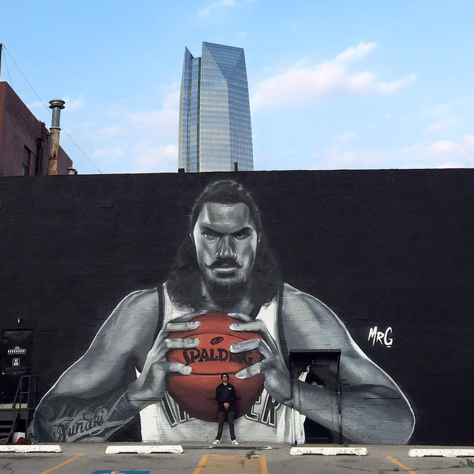 The finished product! @RealStevenAdams @okcthunder #Kiwi #Proud PHOTOS: https://t.co/nnlNIwiIyR https://t.co/RJToqflJTY