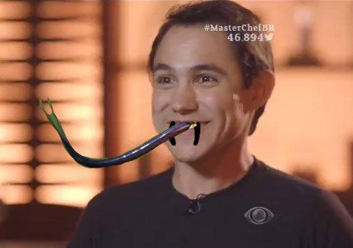 Língua de cobra este Pedro do #MasterChefBR  https://t.co/ZUhOlBHrao