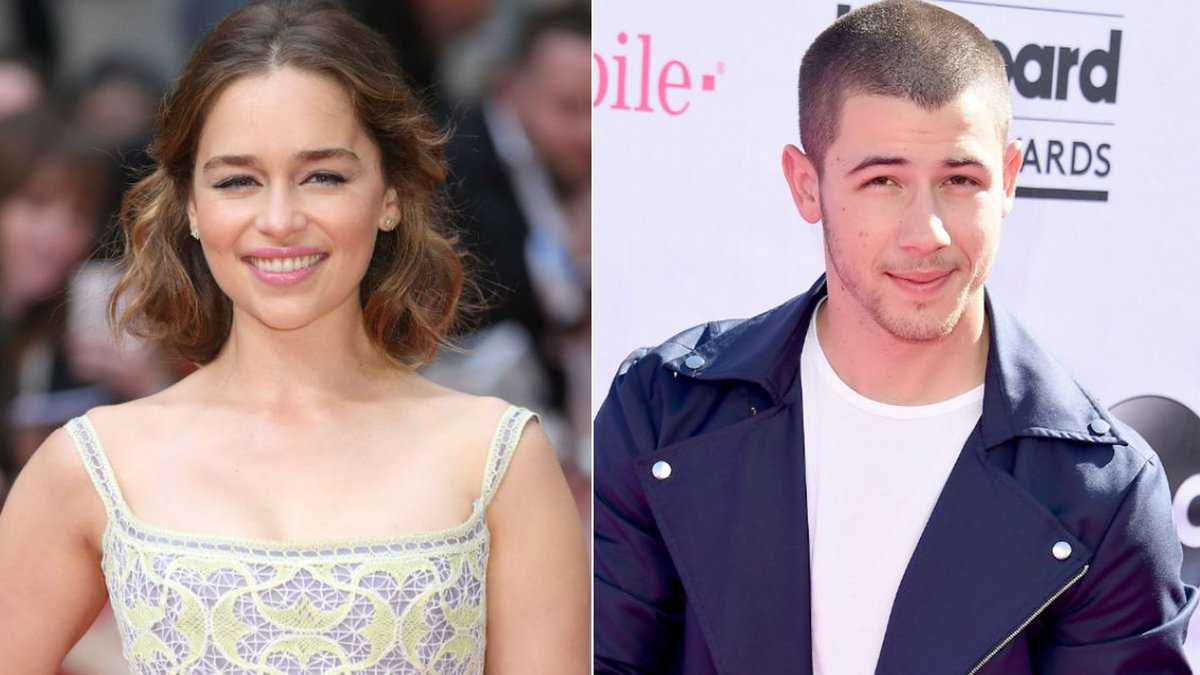 Nick Jonas Just Cannot Stay Cool Around Emilia Clarke