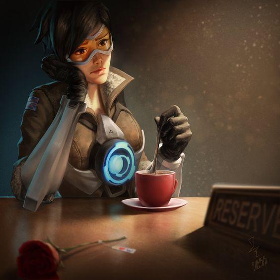 Il est 8h05, et nous prenons le café en compagnie de Tracer d'Overwatch. Un magnifique #FanArtDuJour par istarlove https://t.co/w29TLZROG6