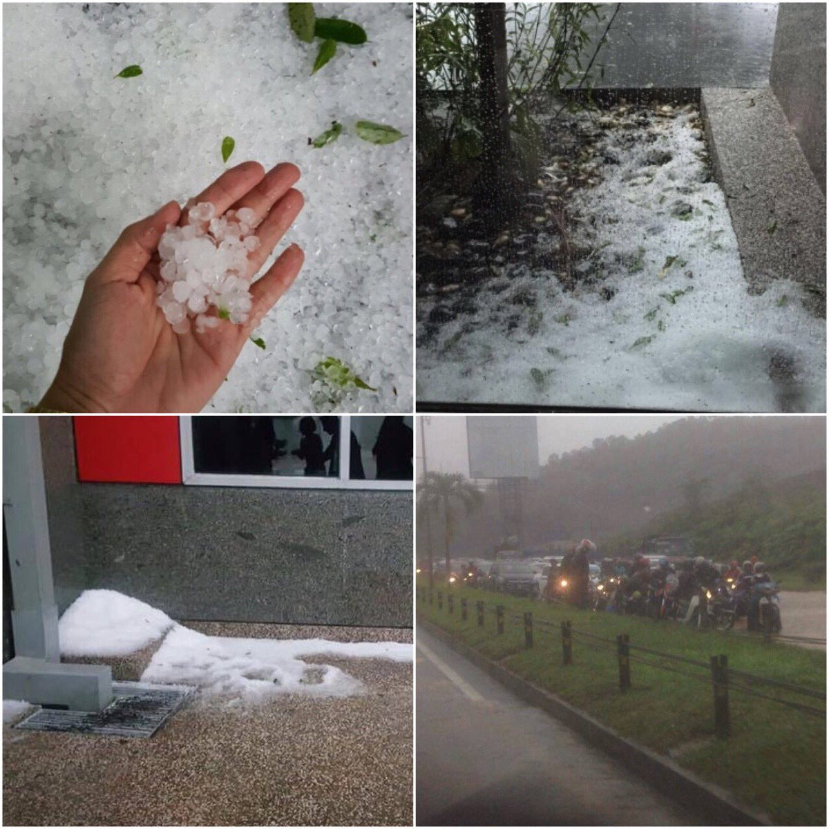 It's raining ice in KL!! Those of you guys making your way home, be careful driving! #FlyWeatherForecast https://t.co/CJcZPo2Ygo