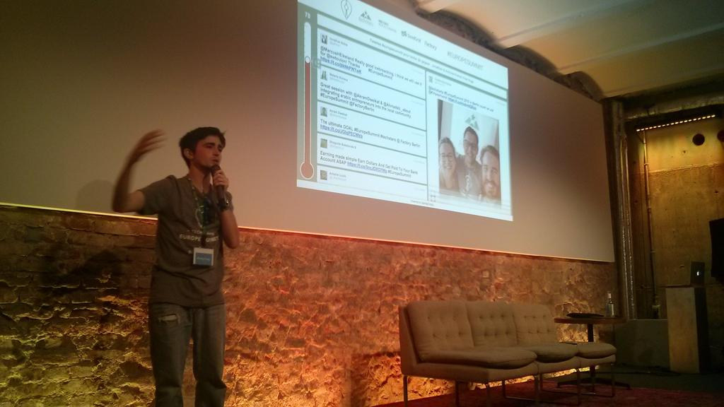 Learning about twitter wall @hashtagtrophy in #europesummit with @antoineguyon https://t.co/Bz2VMgqnpl