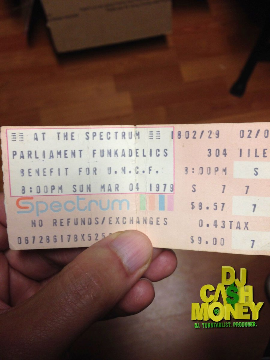 "My 1979 Parliament/Funkadelic Concert ticket stub from Philadelphia..@george_clinton  ""Maggot Brain"" OMG!! https://t.co/h53MiiX2ya"