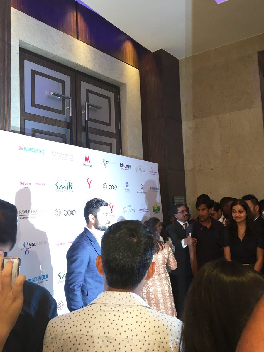 The Man behind the mission  @imVkohli is finally here #smilewithVKF https://t.co/MkrY7upv8n