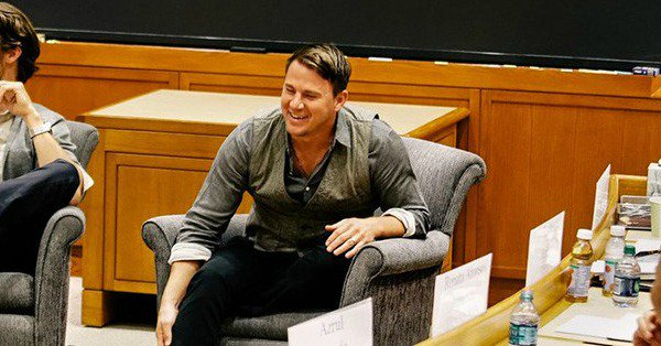 Channing Tatum enrolled at Harvard and we're not above pulling an Elle Woods right now: