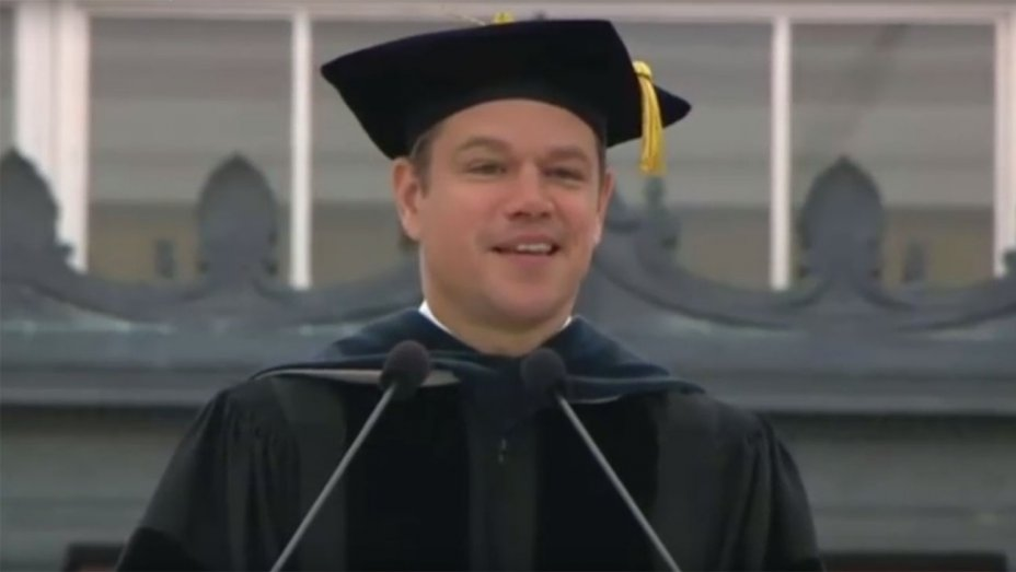 Watch: Matt Damon tells MIT graduates to face the world's problems