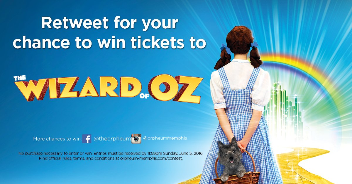 Retweet now for your chance to win tickets to The Wizard of Oz! Details: https://t.co/BMbOk5VuPB #WIZMEM https://t.co/JXNNNryOzI