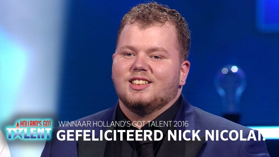 .@NickNicolaiSoul is de winnaar van #HollandsGotTalent 2016! Feliciteer hem me een RT! #HGT https://t.co/ByxYrVaY4D
