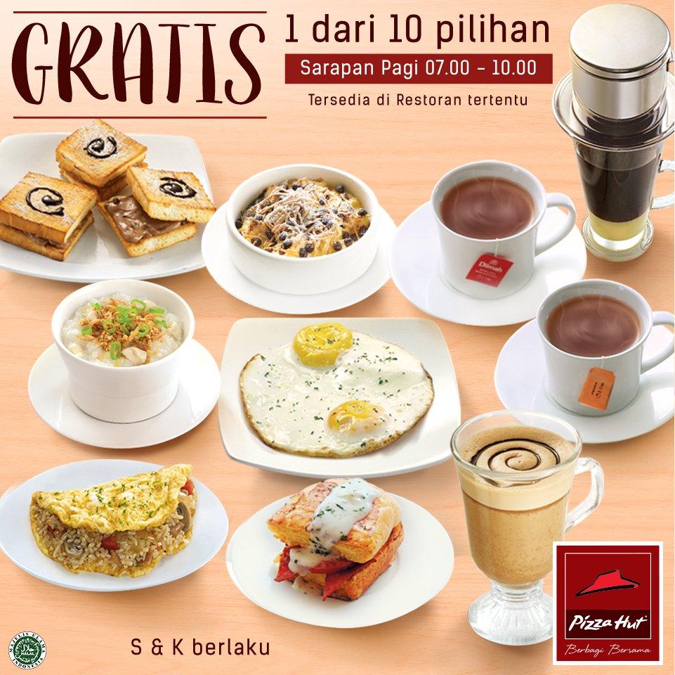 Mau sarapan di #PizzaHutID? Lengkapi #SarapanPagiPH kamu dengan 1 hidangan gratis tiap beli sarapan telur platter https://t.co/lurhnnfKgI